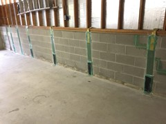 This is what the nearly completed stabilization looked like. This customer is guaranteed that this wall will not move anymore in their life-time.